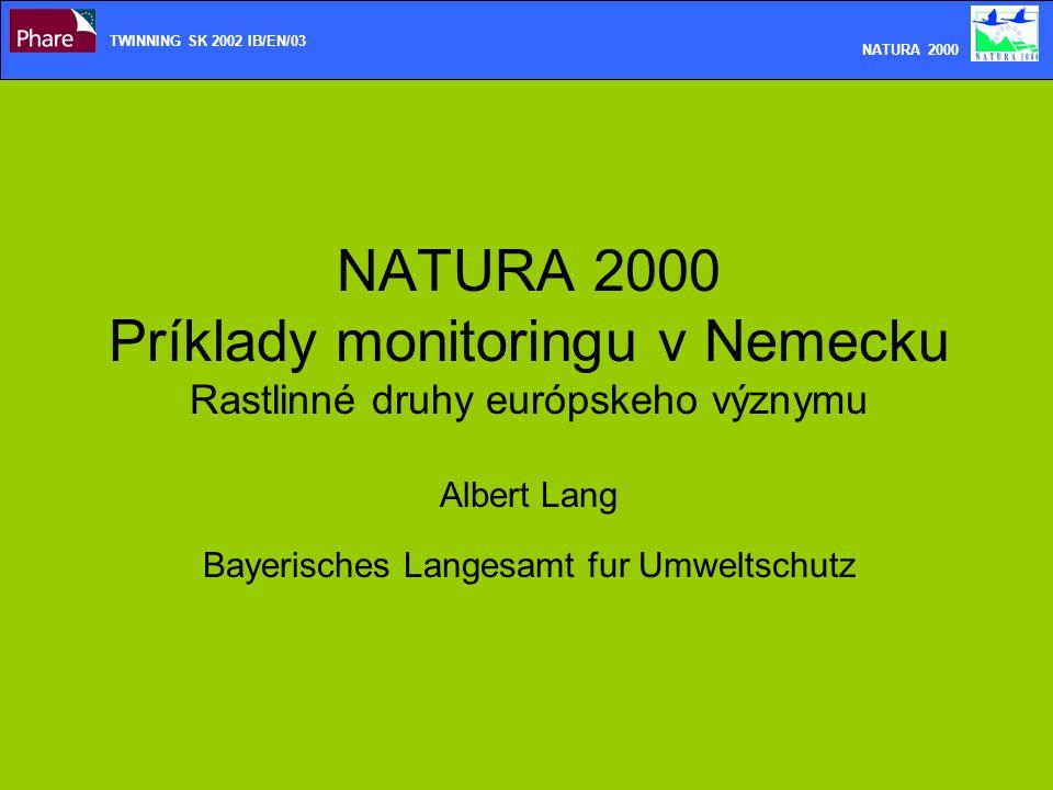 TWINNING SK 2002 IB/EN/03 NATURA 2000.