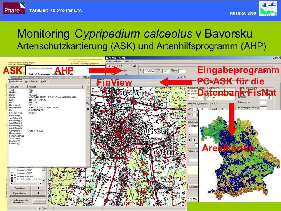 TWINNING SK 2002 IB/EN/03 NATURA 2000. Monitoring Cypripedium calceolus v Bavorsku Artenschutzkartierung (ASK) und Artenhilfsprogramm (AHP)