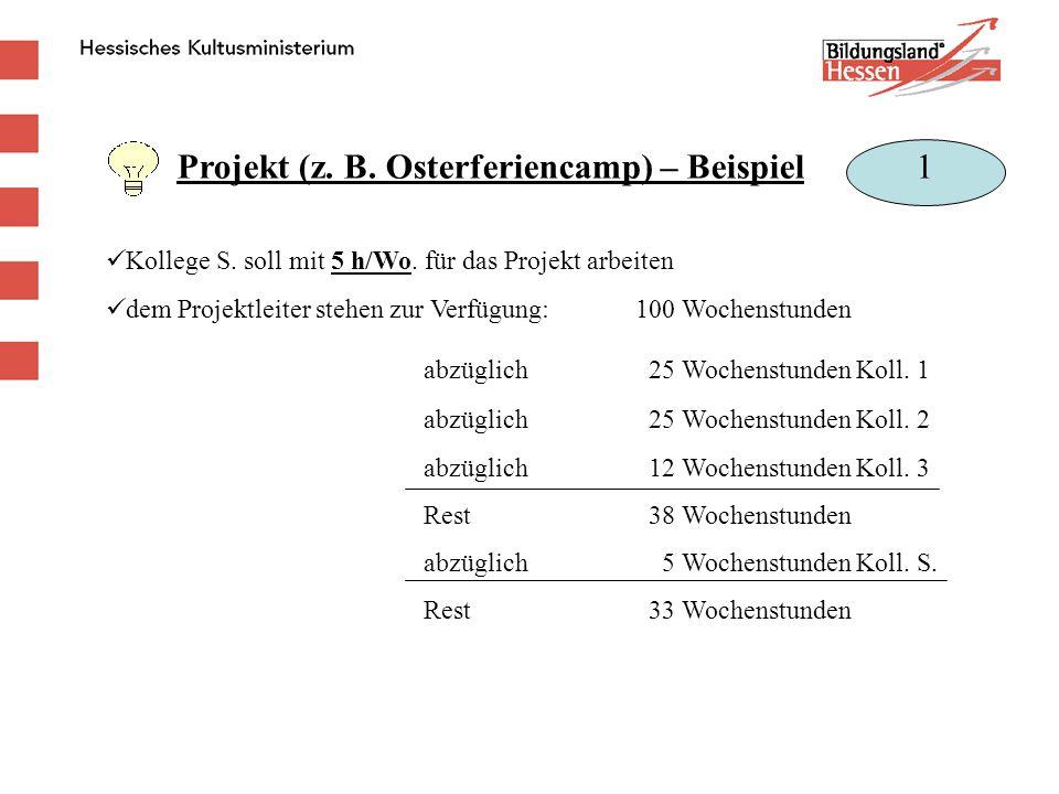 Projekt (z. B. Osterferiencamp) – Beispiel