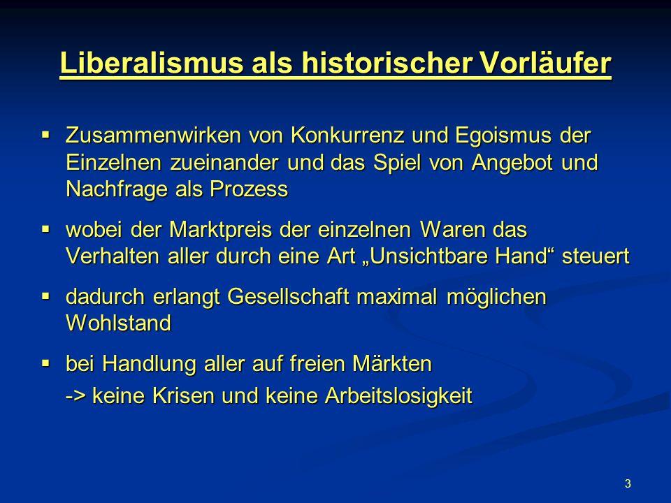 Liberalismus als historischer Vorläufer