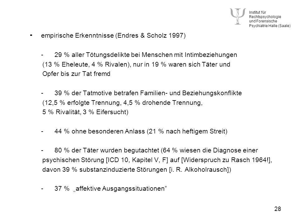  empirische Erkenntnisse (Endres & Scholz 1997)