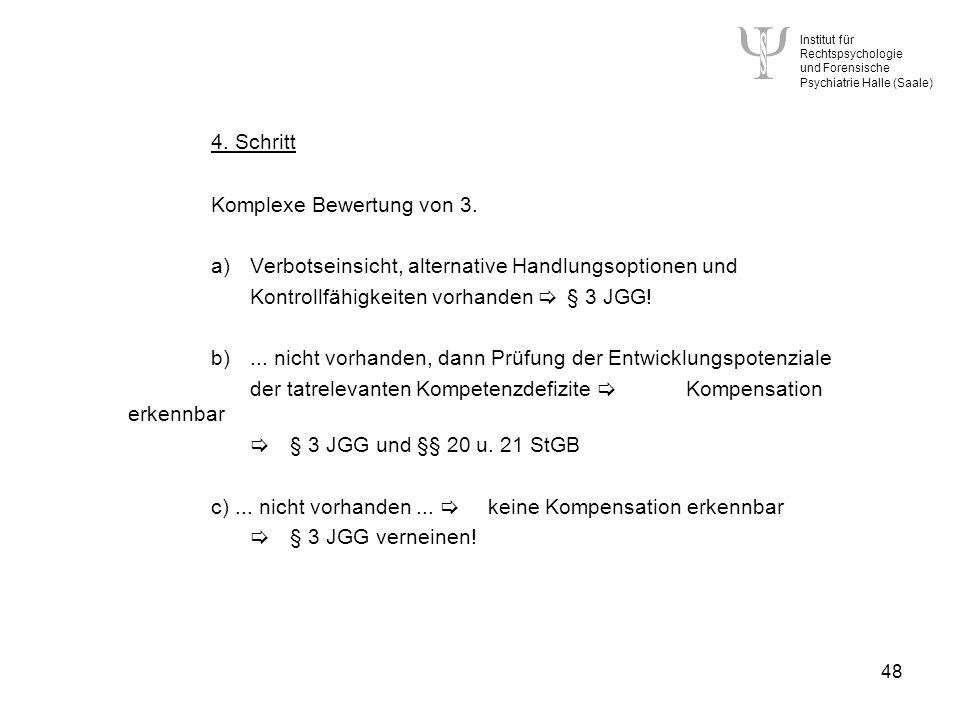 4. Schritt Komplexe Bewertung von 3.