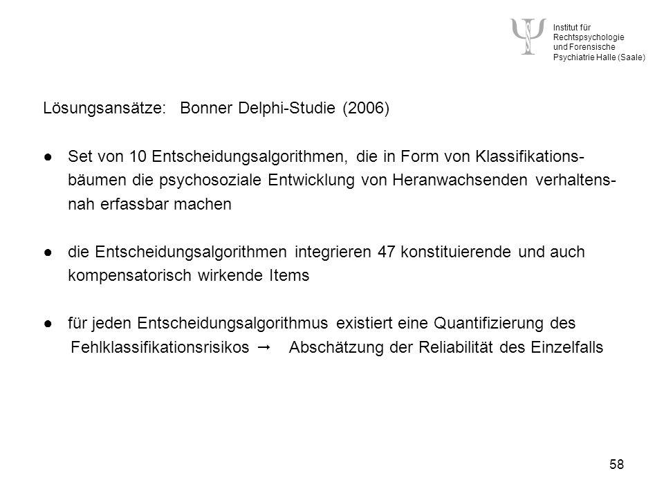 Lösungsansätze: Bonner Delphi-Studie (2006)