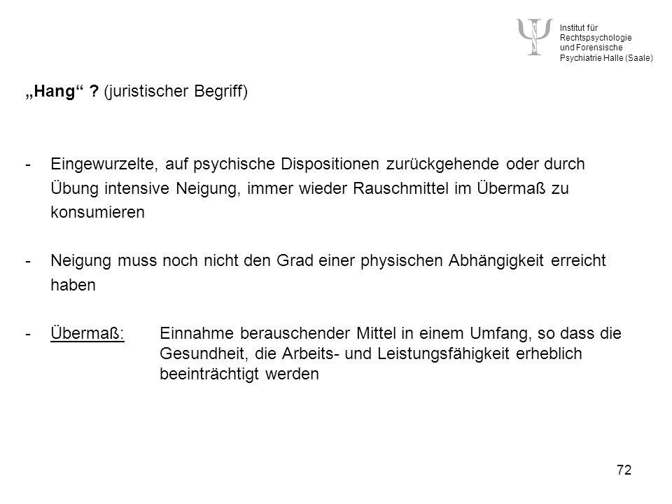 """""""Hang (juristischer Begriff)"""