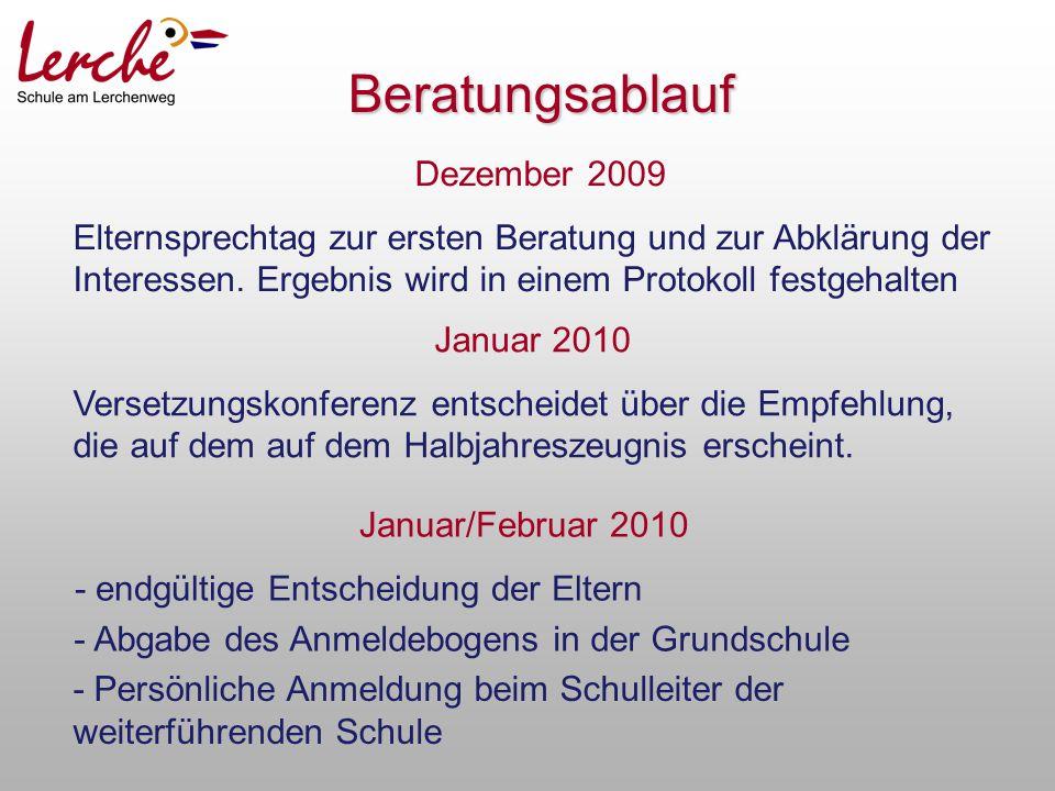 Beratungsablauf Dezember 2009