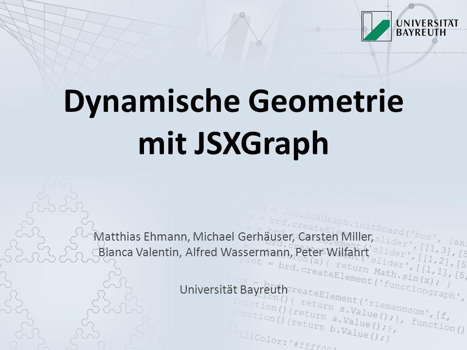 Dynamische Geometrie mit JSXGraph