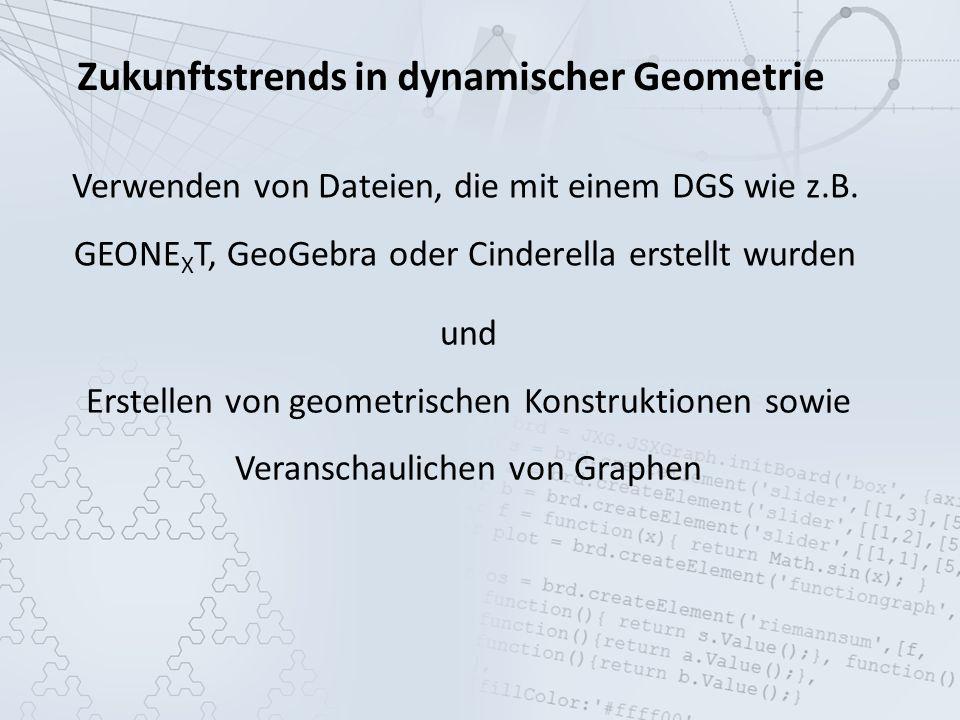 Zukunftstrends in dynamischer Geometrie