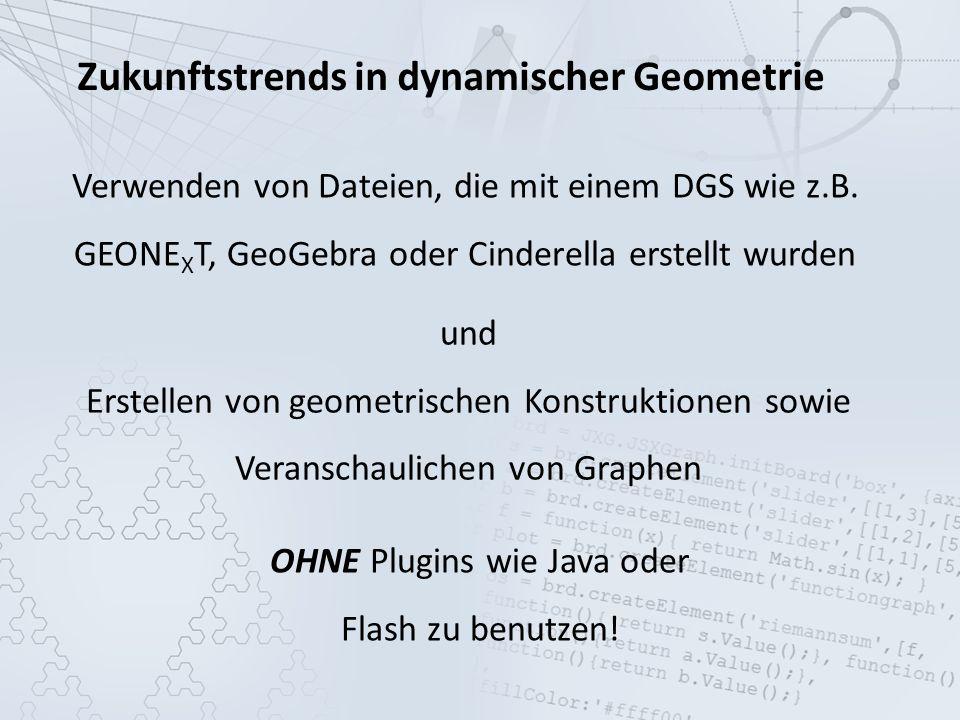 OHNE Plugins wie Java oder Flash zu benutzen!