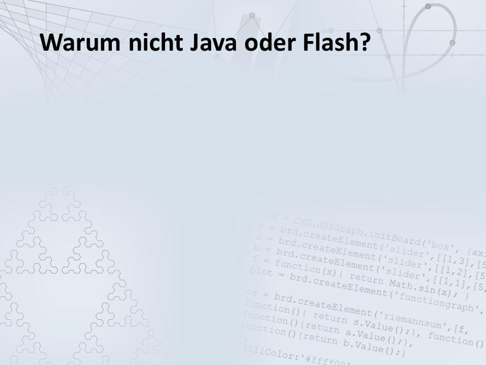 Warum nicht Java oder Flash