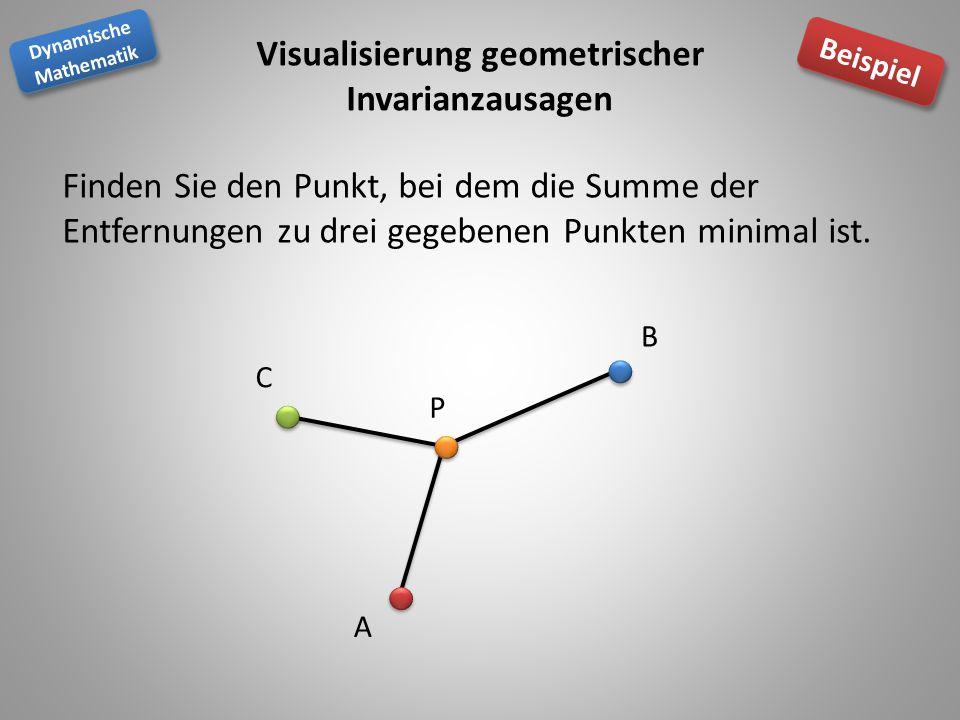 Visualisierung geometrischer Invarianzausagen