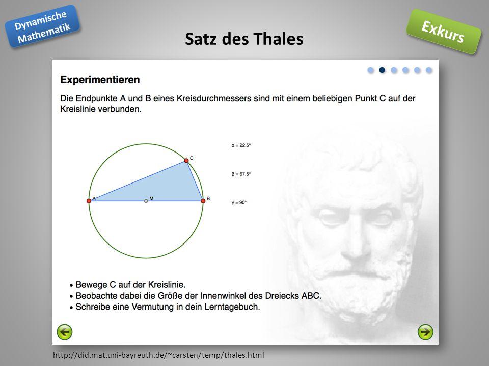 Satz des Thales http://did.mat.uni-bayreuth.de/~carsten/temp/thales.html