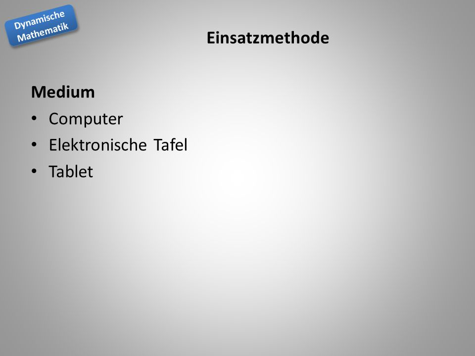 Einsatzmethode Medium Computer Elektronische Tafel Tablet