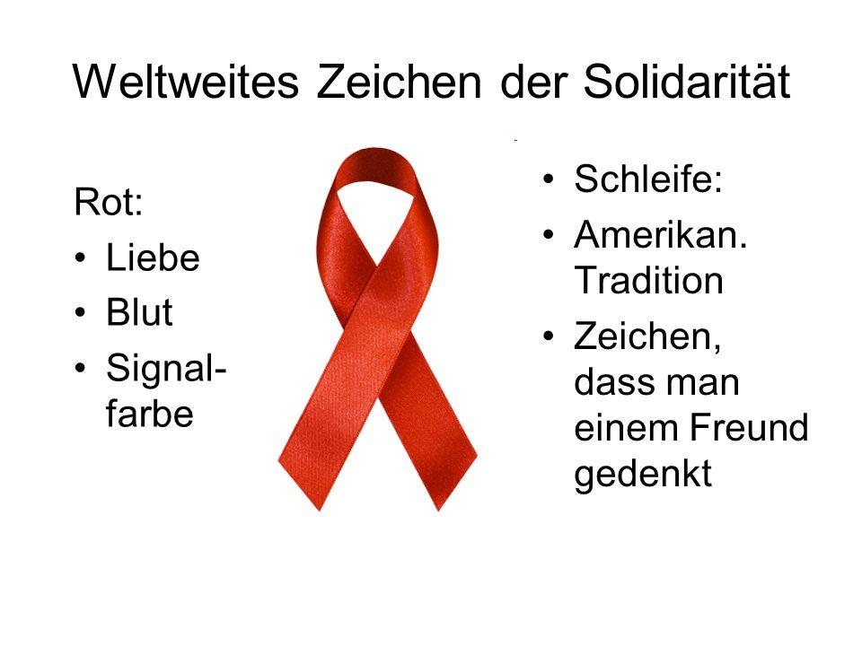 Weltweites Zeichen der Solidarität
