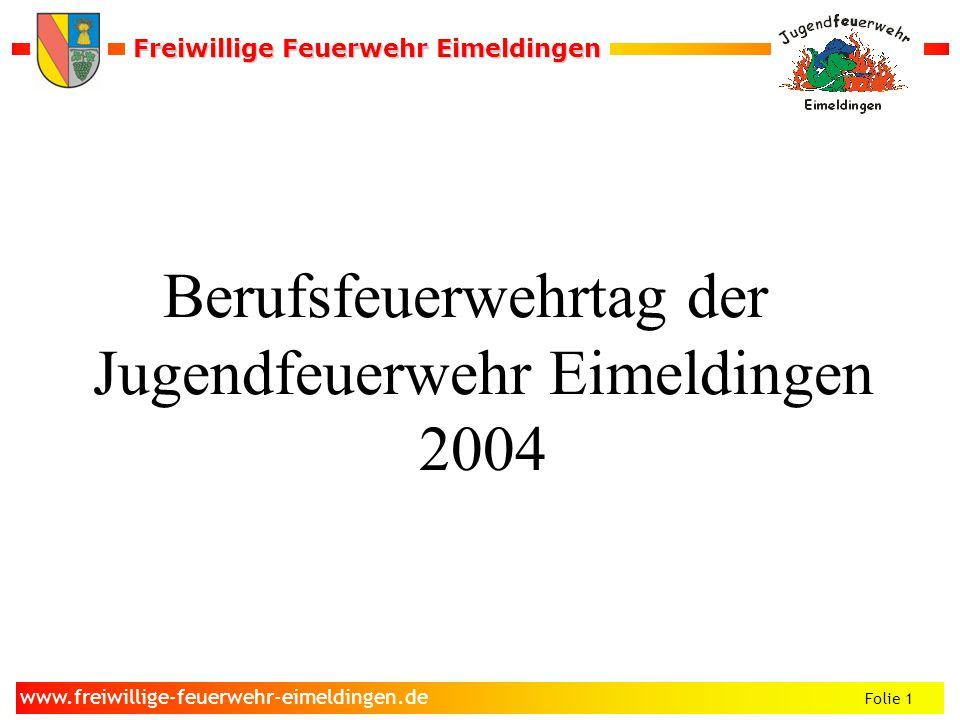 Berufsfeuerwehrtag der Jugendfeuerwehr Eimeldingen 2004