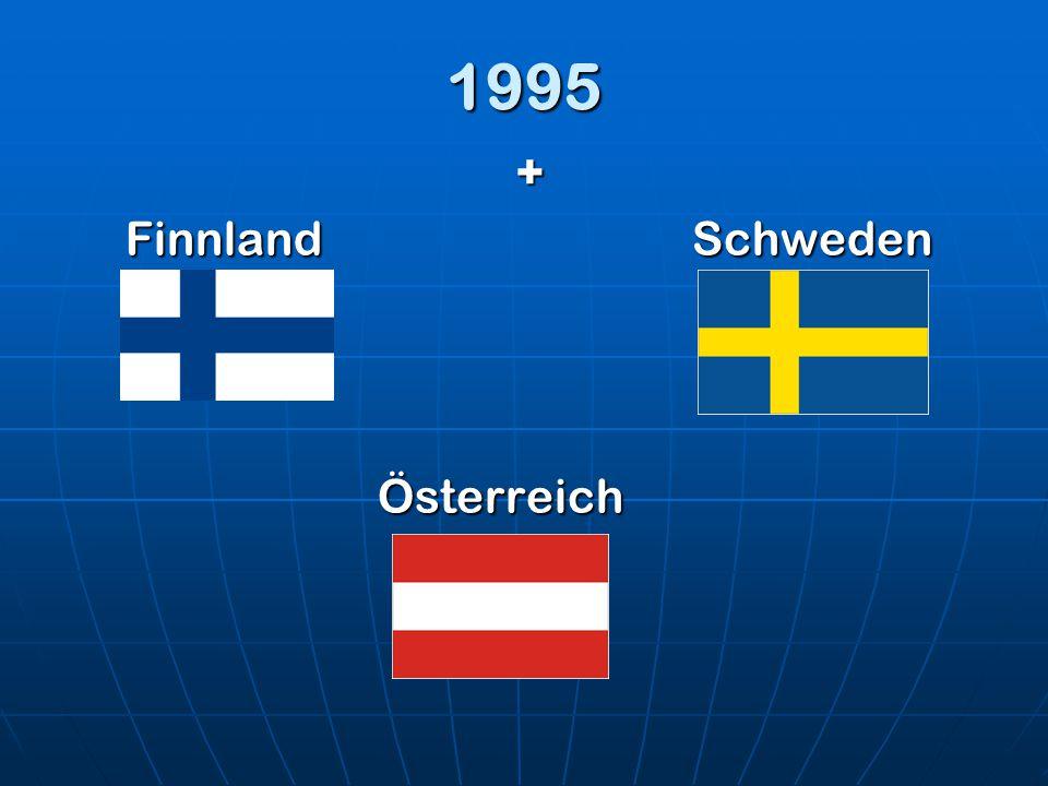 1995 + Finnland Schweden Österreich
