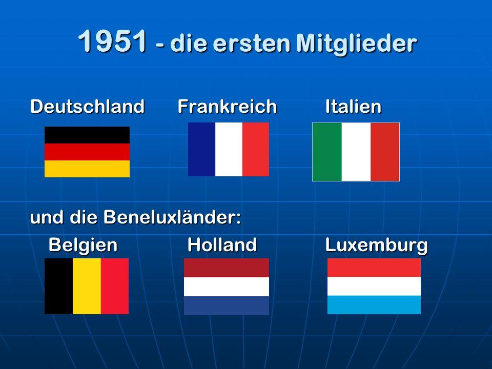 1951 - die ersten Mitglieder