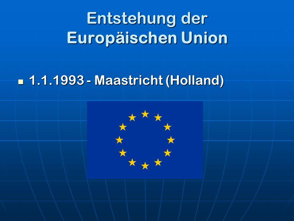 Entstehung der Europäischen Union