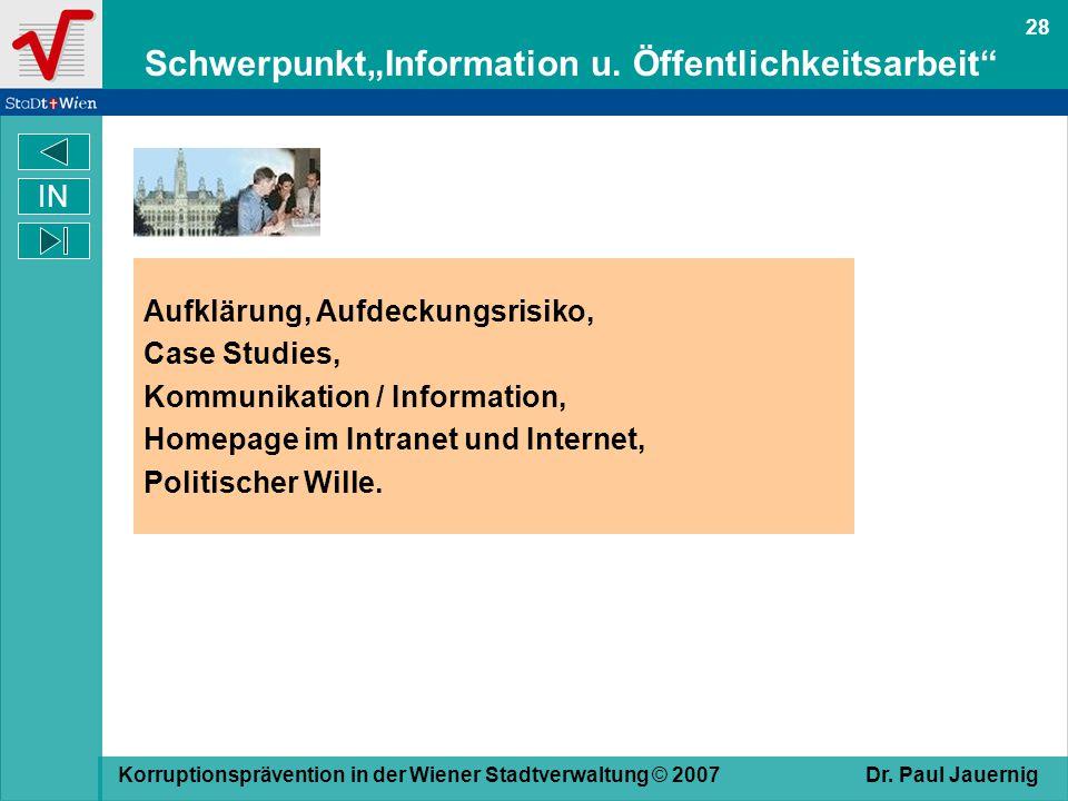 """Schwerpunkt""""Information u. Öffentlichkeitsarbeit"""