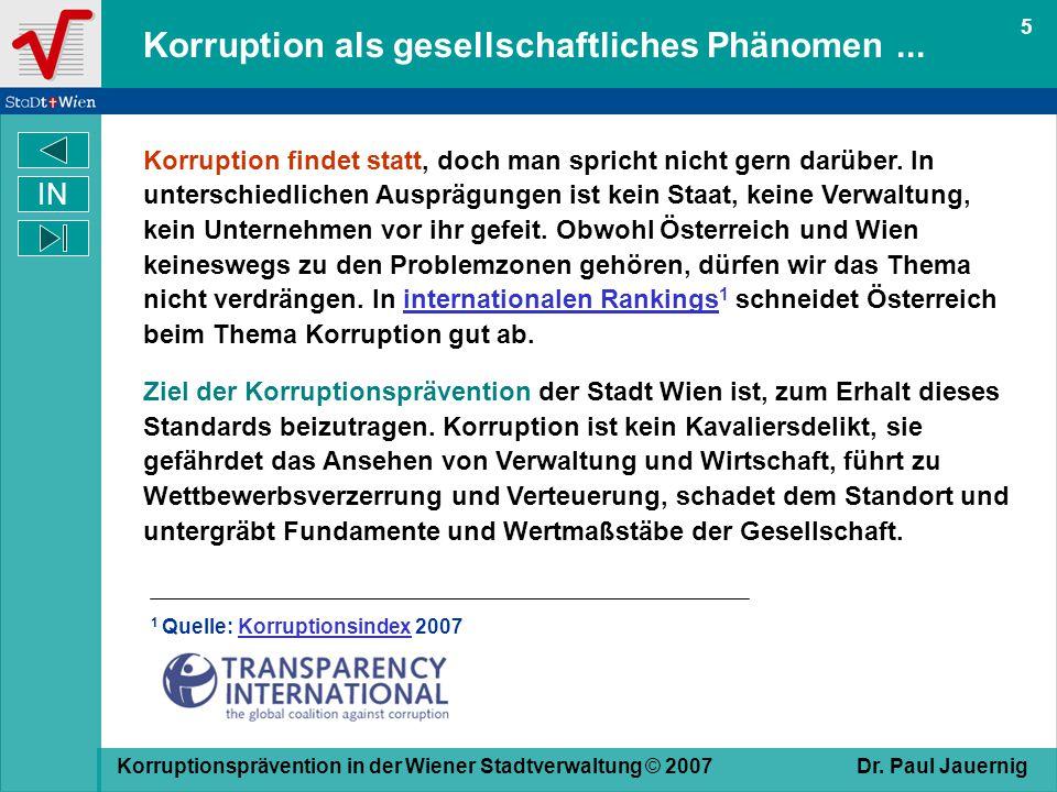 Korruption als gesellschaftliches Phänomen ...