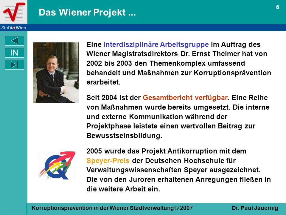 6 Das Wiener Projekt ...