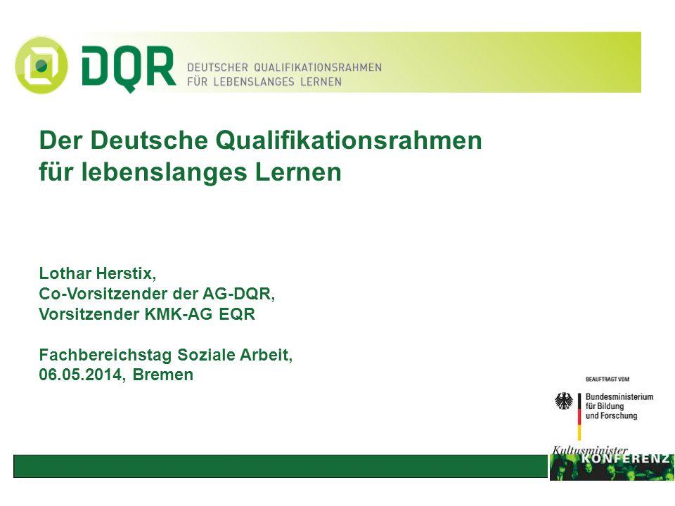 Der Deutsche Qualifikationsrahmen für lebenslanges Lernen