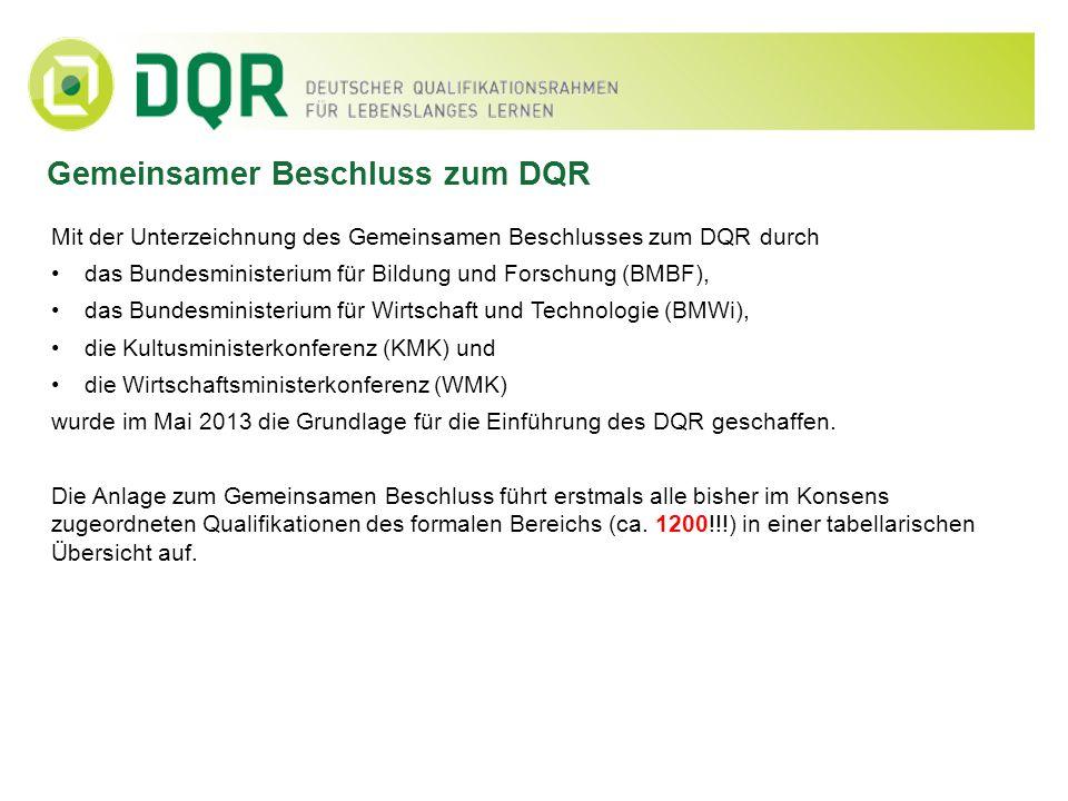 Gemeinsamer Beschluss zum DQR