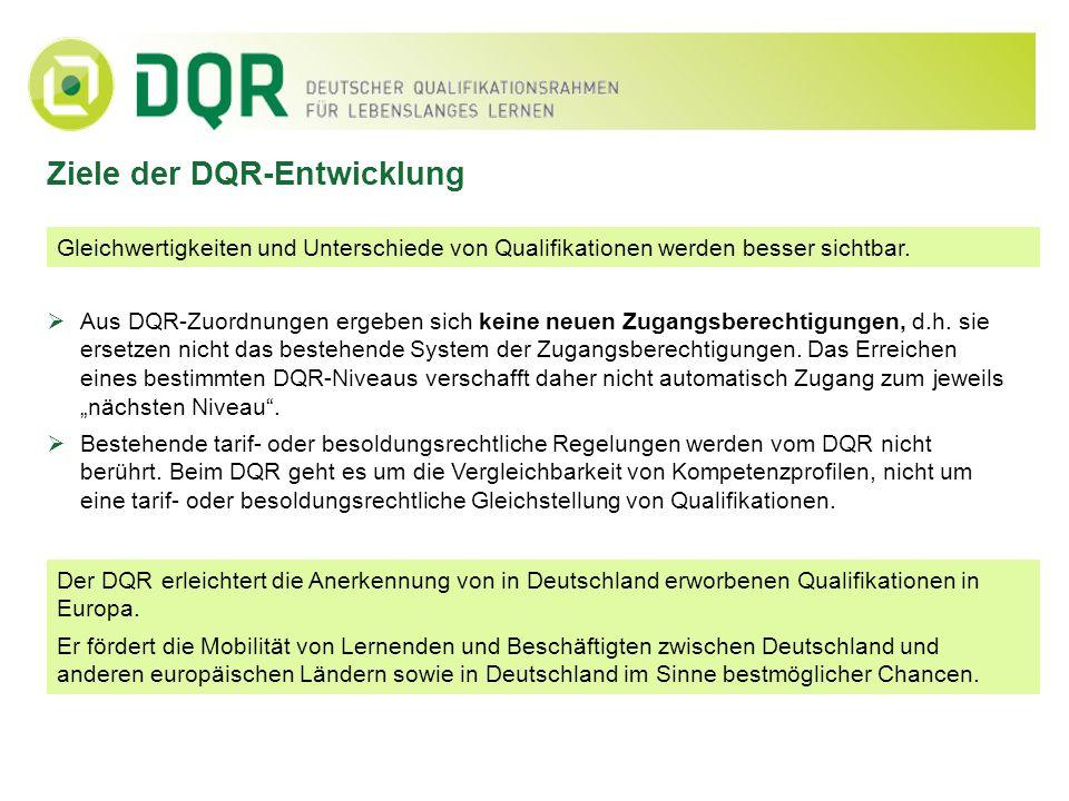 Ziele der DQR-Entwicklung