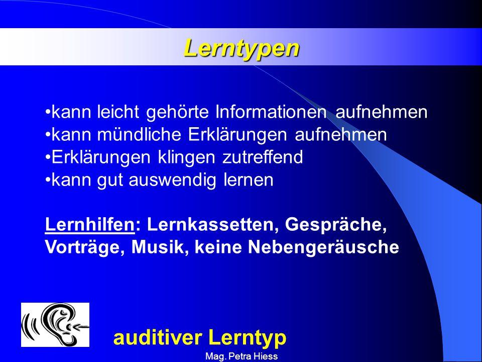 Lerntypen auditiver Lerntyp