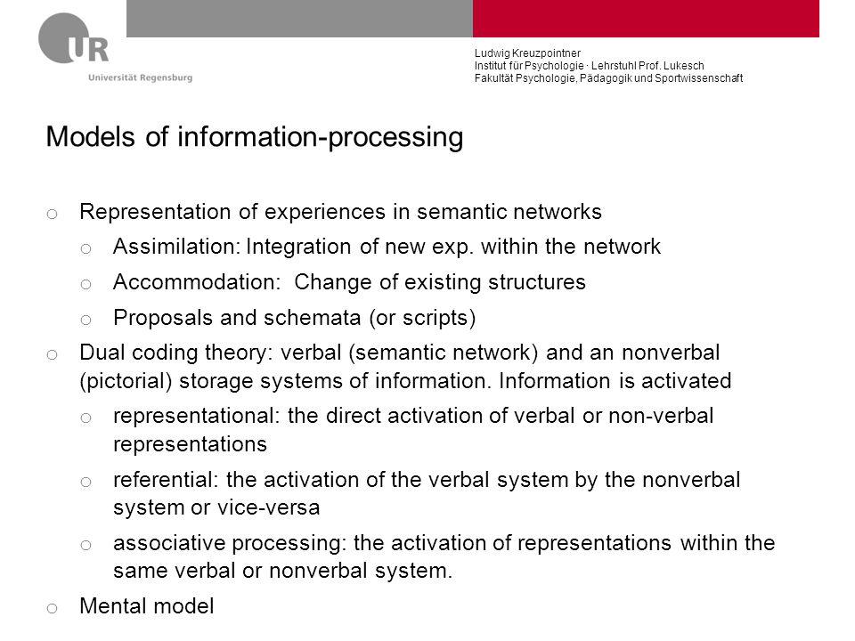Models of information-processing