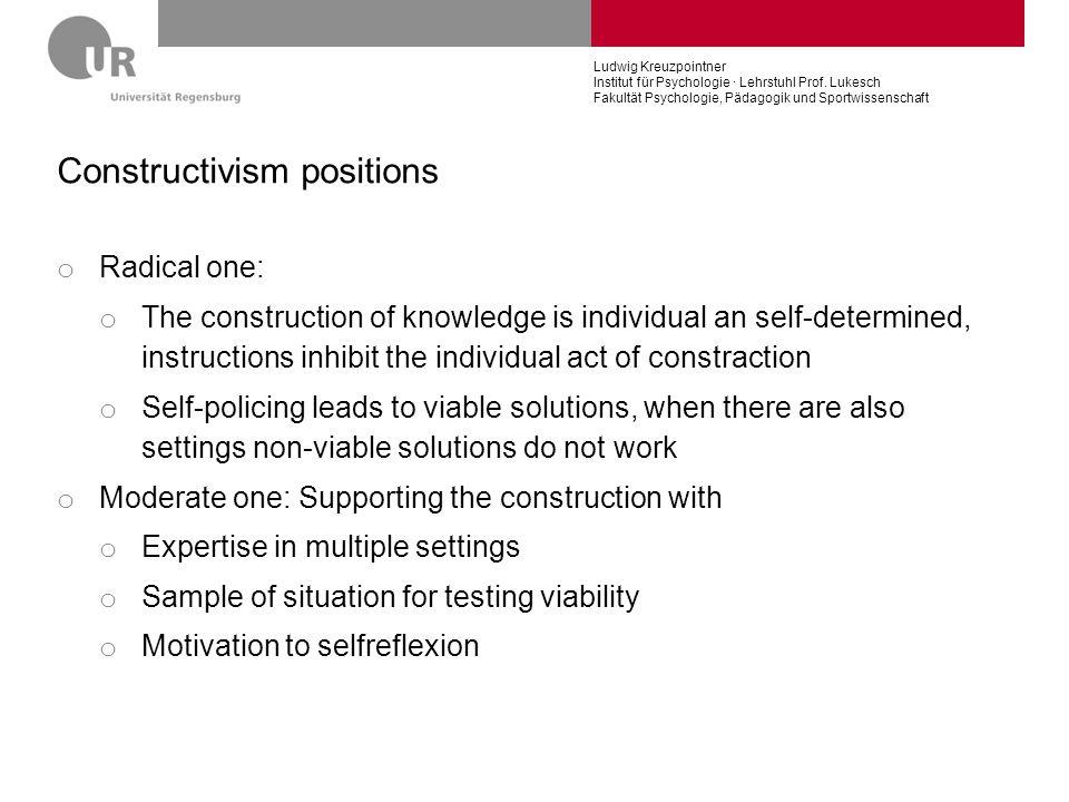 Constructivism positions
