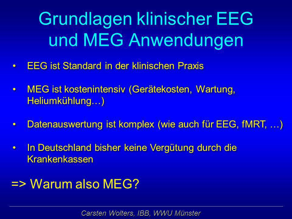 Grundlagen klinischer EEG und MEG Anwendungen