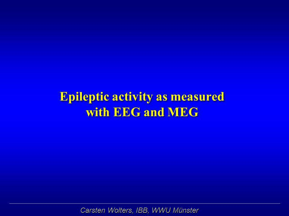 Epileptic activity as measured with EEG and MEG