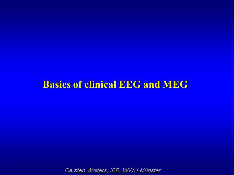 Basics of clinical EEG and MEG