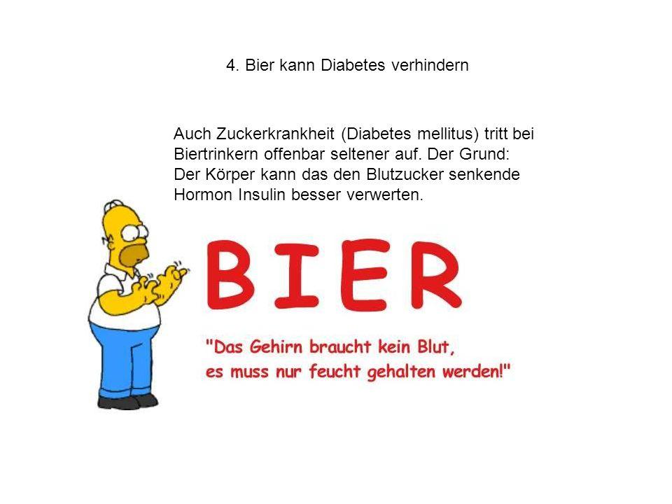 4. Bier kann Diabetes verhindern