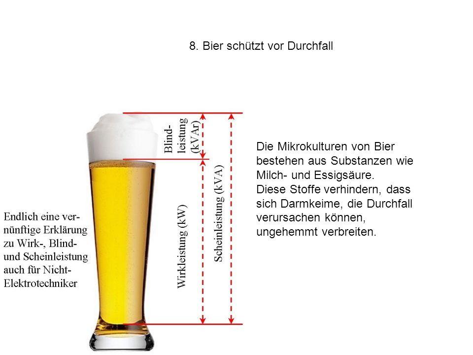 8. Bier schützt vor Durchfall