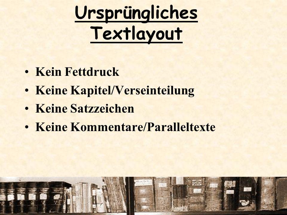 Ursprüngliches Textlayout