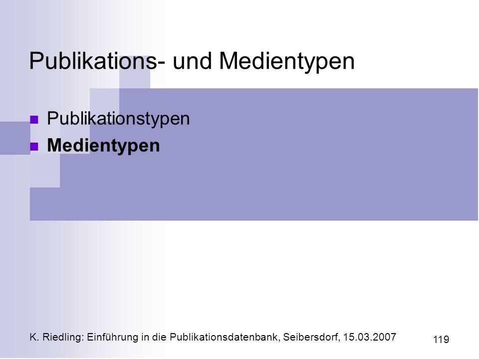 Publikations- und Medientypen