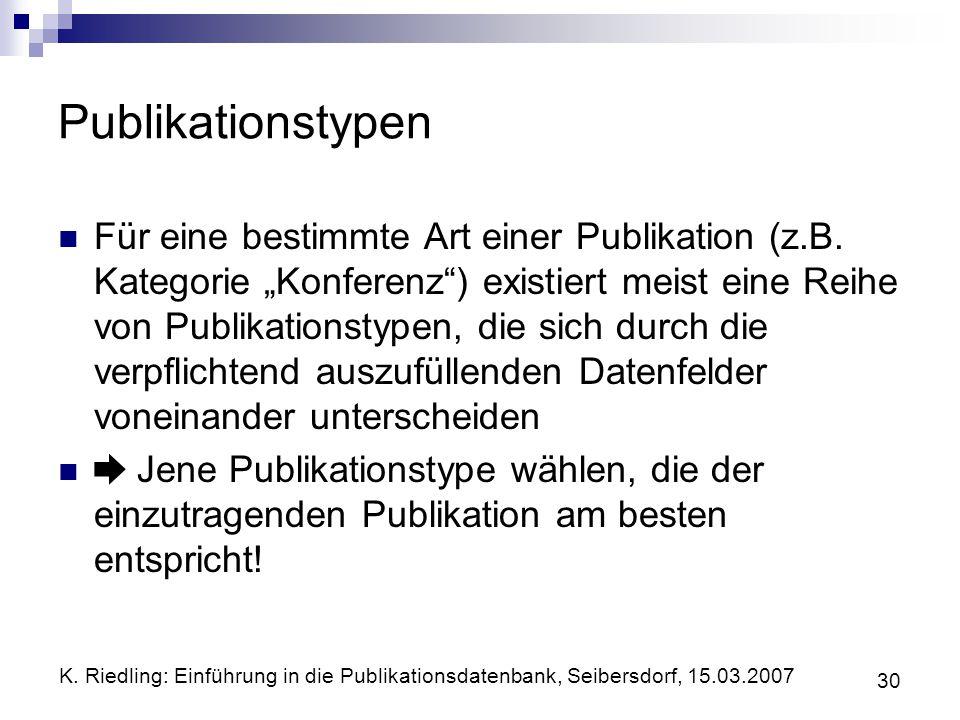 Publikationstypen