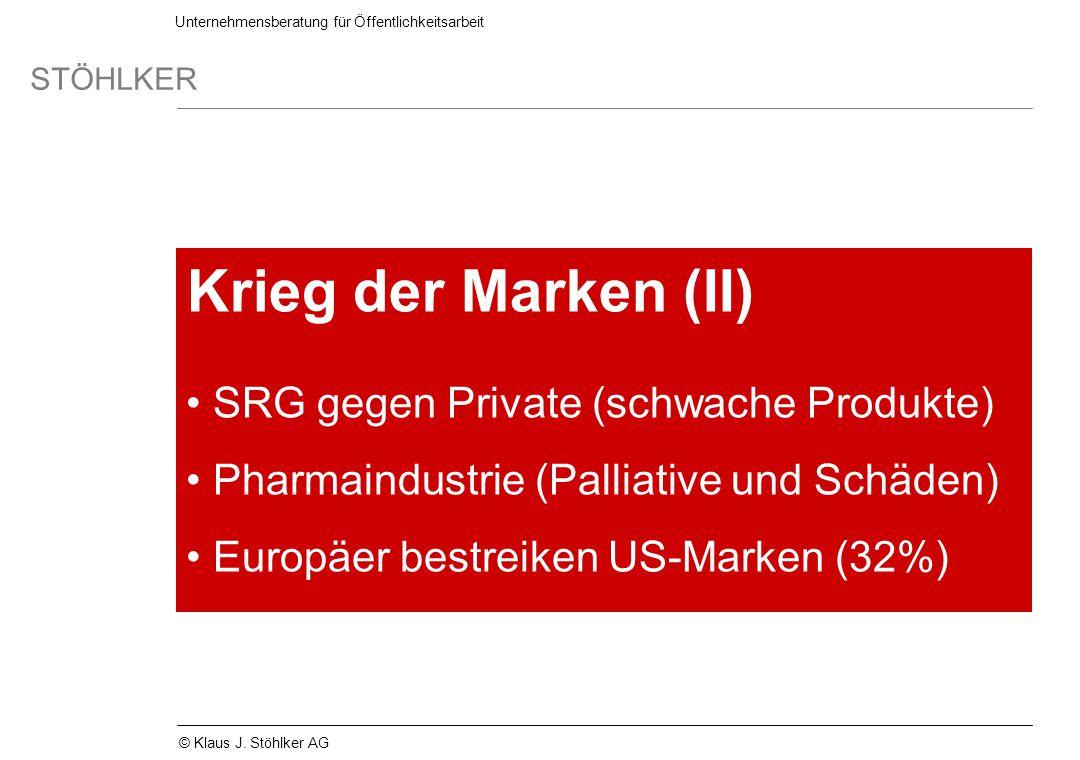 Krieg der Marken (II) SRG gegen Private (schwache Produkte)