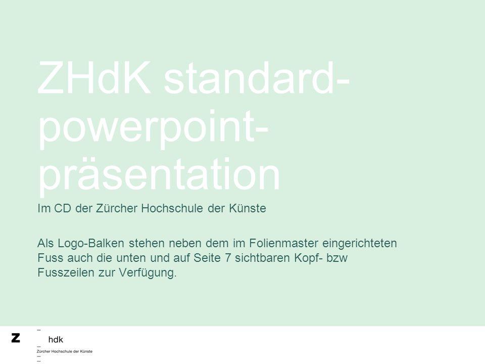 ZHdK standard-powerpoint-präsentation