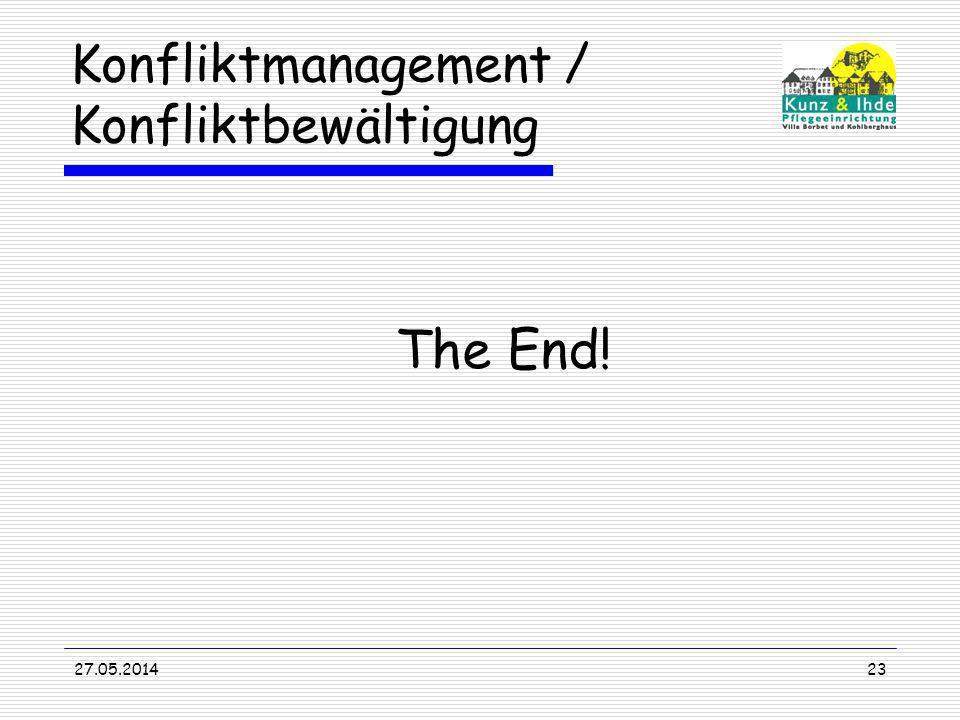 Konfliktmanagement / Konfliktbewältigung