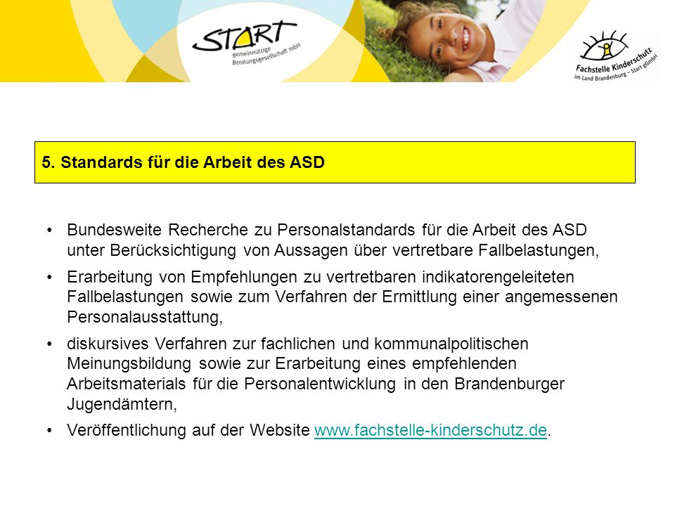 5. Standards für die Arbeit des ASD