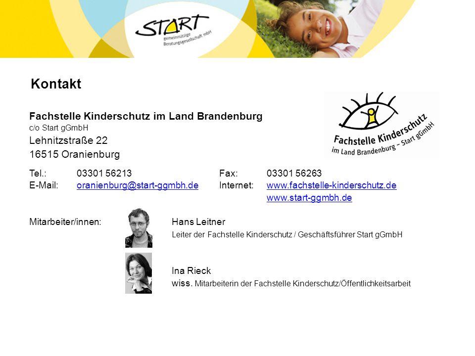 Kontakt Fachstelle Kinderschutz im Land Brandenburg Lehnitzstraße 22