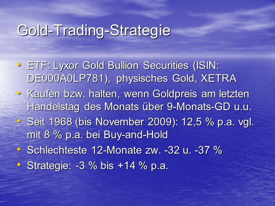 Gold-Trading-Strategie