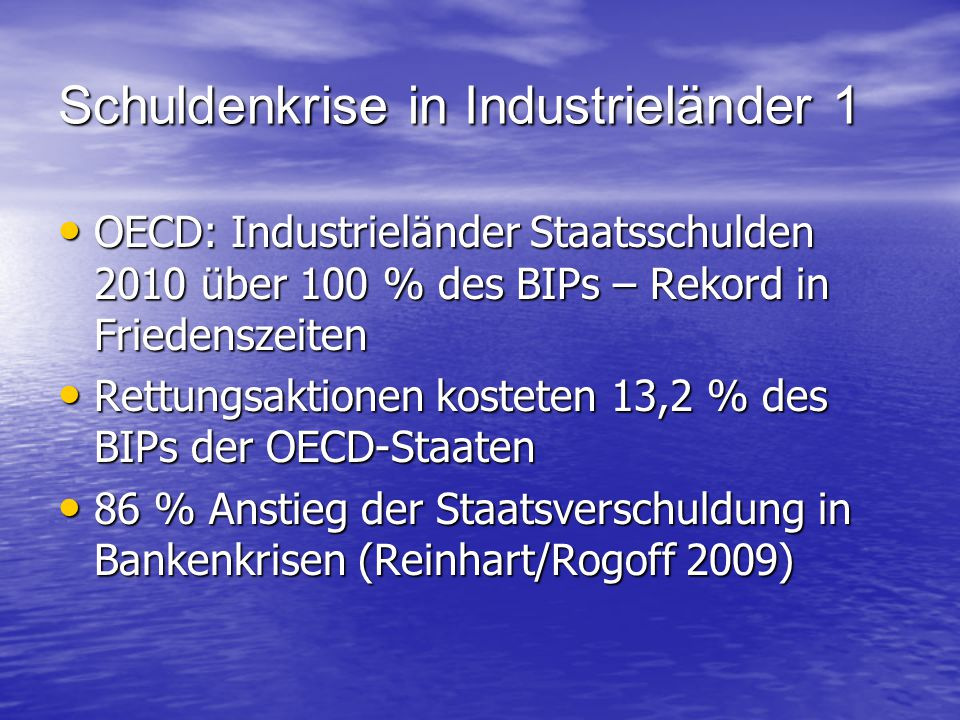 Schuldenkrise in Industrieländer 1