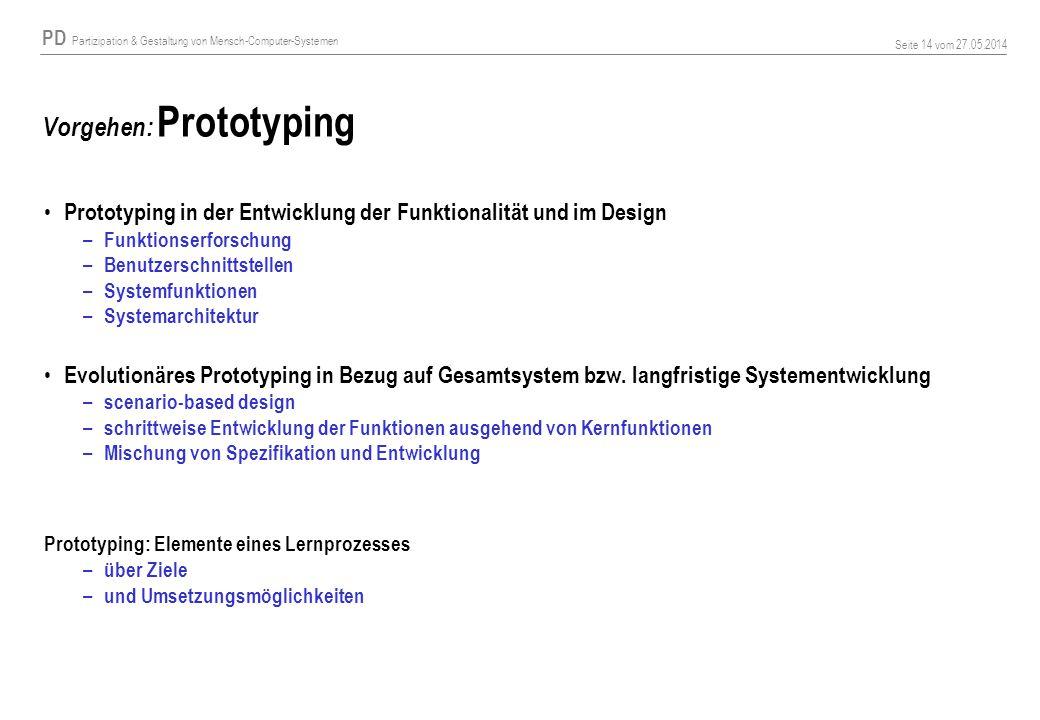 Vorgehen: Prototyping
