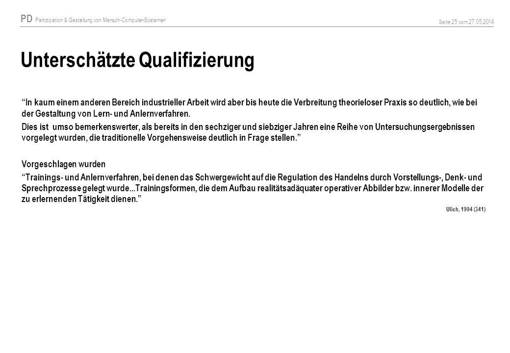 Unterschätzte Qualifizierung