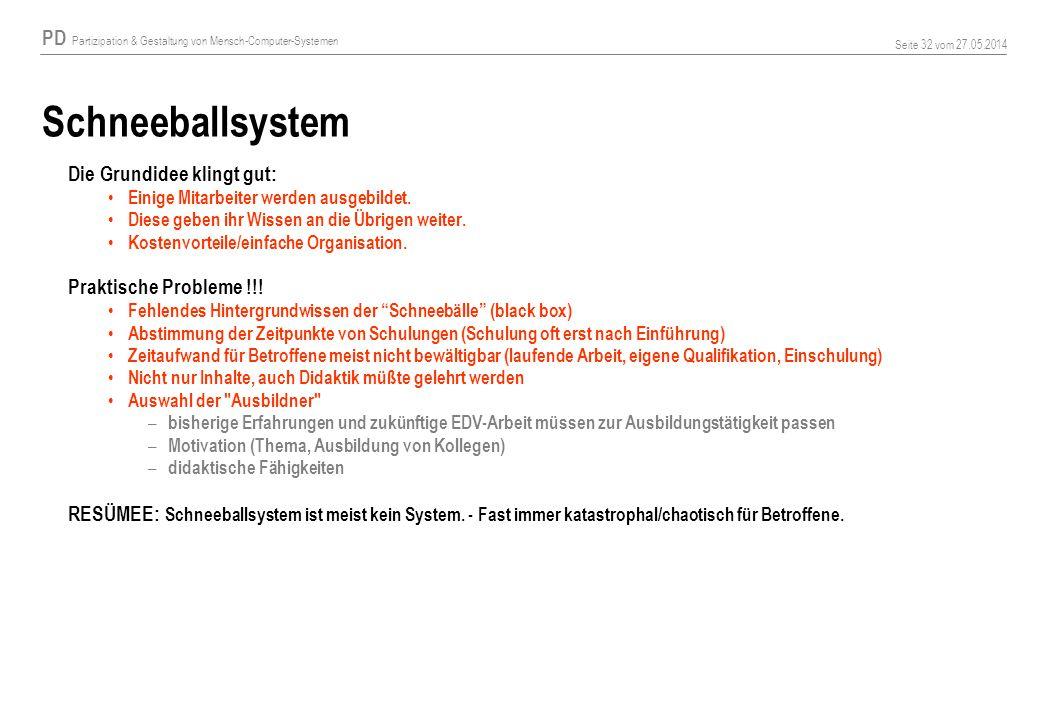Schneeballsystem Die Grundidee klingt gut: Praktische Probleme !!!