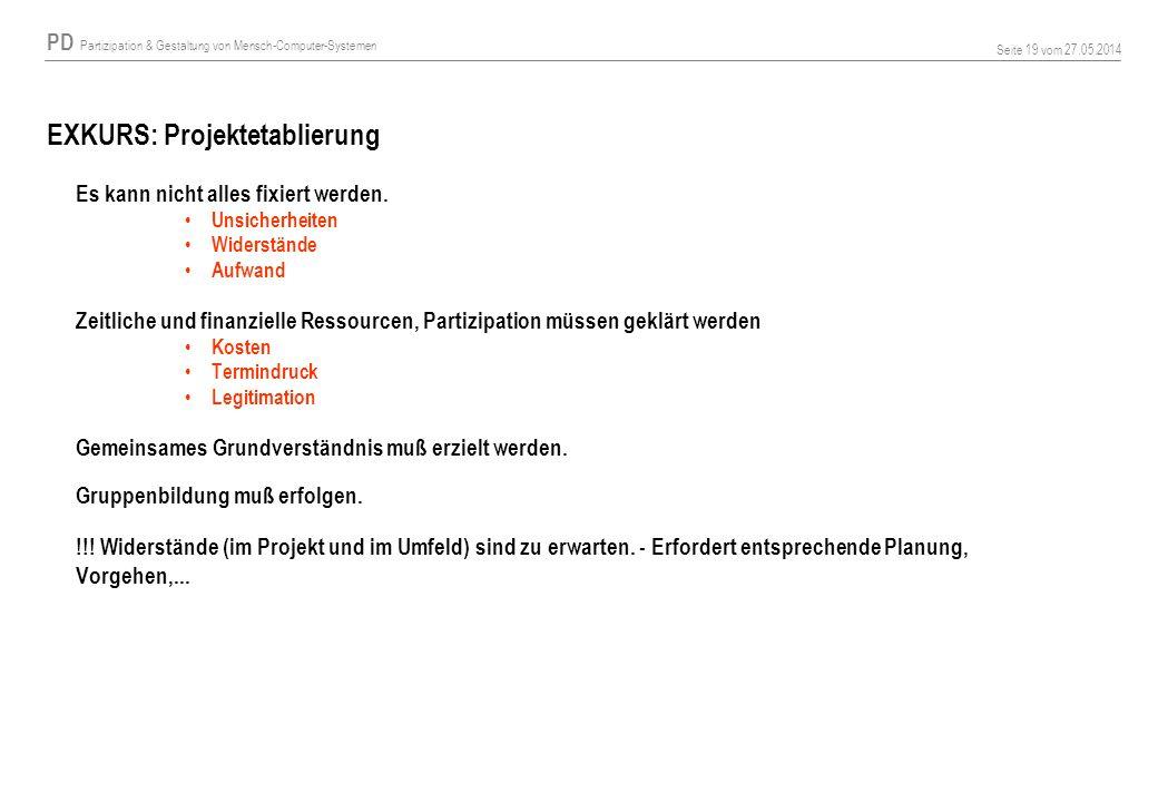 EXKURS: Projektetablierung
