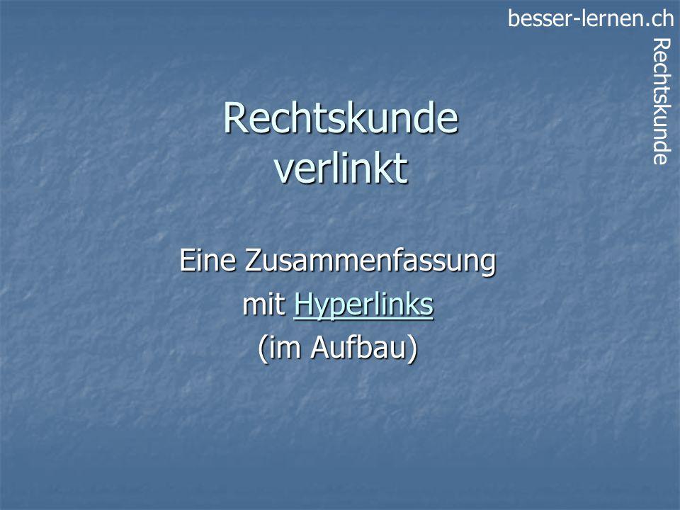 Eine Zusammenfassung mit Hyperlinks (im Aufbau)